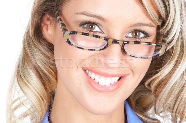 Foto d'archivio: Donna · d'affari · bella · sorridere · imprenditrice · bianco