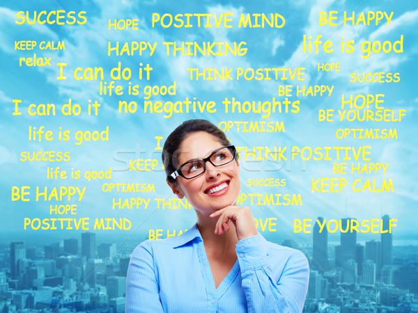 Woman positive thinking Stock photo © Kurhan