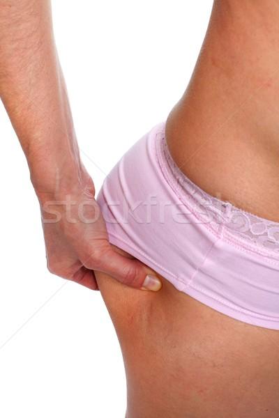 Mujer trasero dieta mano cuerpo Foto stock © Kurhan