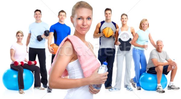 Grupy fitness ludzi kobieta wody Zdjęcia stock © Kurhan