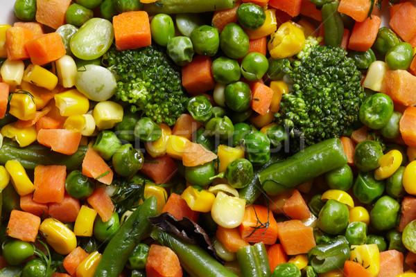 Verdura cotto piselli fagioli verdi dieta sana Foto d'archivio © Kurhan