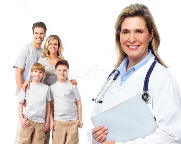 Medizinischen Familie Arzt isoliert weiß Frau Stock foto © Kurhan