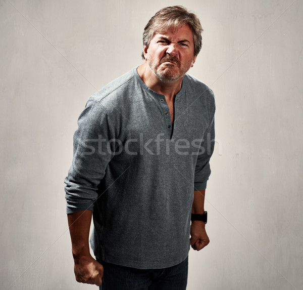 Aggressive man. Stock photo © Kurhan