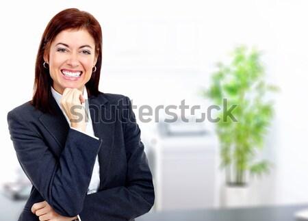 Stock fotó: üzletasszony · mosolyog · modern · iroda · üzlet · boldog