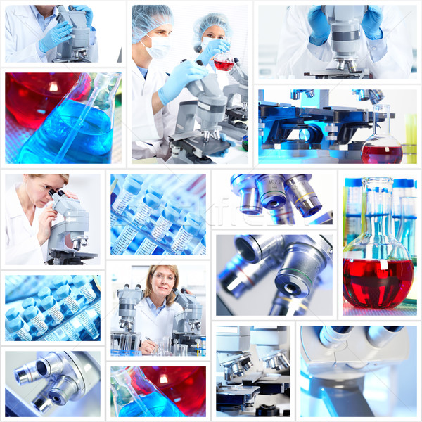 Stock photo: Scientific background collage.