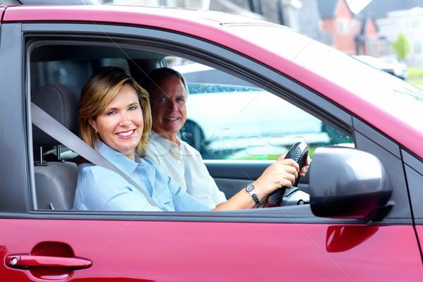 Happy senior couple in the car. Stock photo © Kurhan