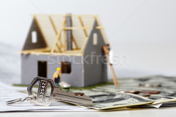 House under construction. Stock photo © Kurhan