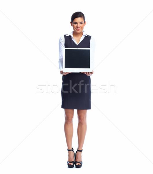 Stock fotó: üzletasszony · laptop · online · oktatás · üzlet · lány
