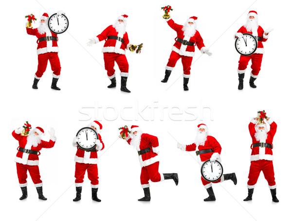 Foto stock: Feliz · natal · isolado · branco · festa