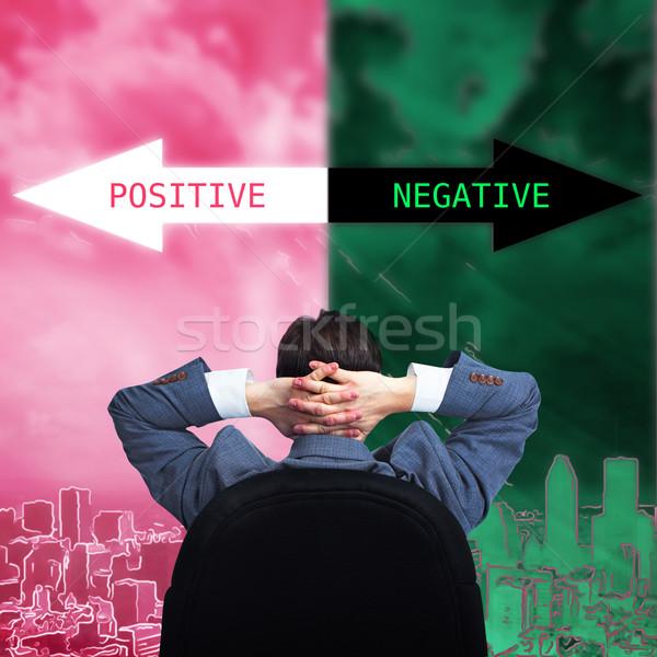Man positive thinking. Stock photo © Kurhan