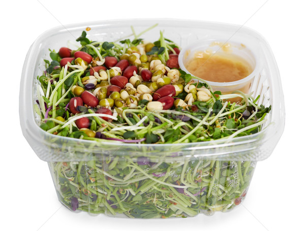 Micro salada verde fresco saúde Foto stock © Kurhan