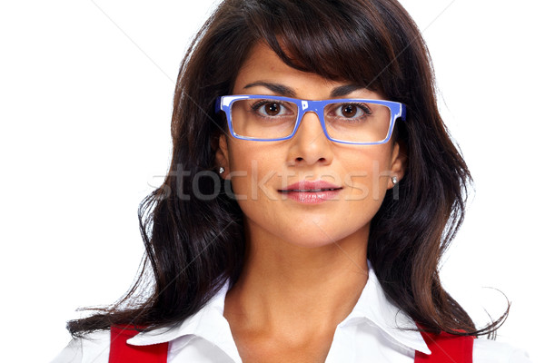 Asian business woman with eyeglasses. Stock photo © Kurhan