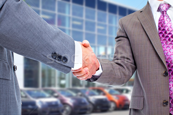 Car seller and client handshake. Stock photo © Kurhan