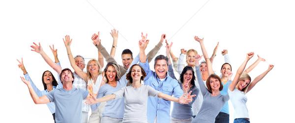 Pessoas felizes isolado branco sorrir mulheres Foto stock © Kurhan