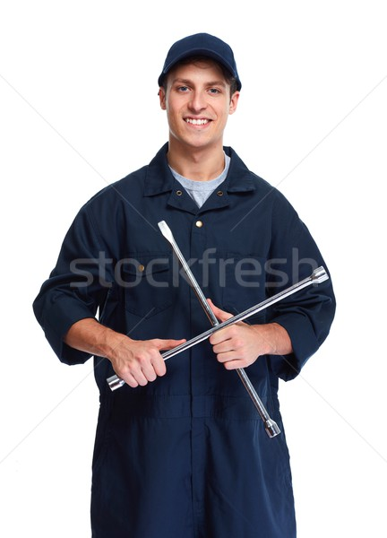 Car mechanic with wrench Stock photo © Kurhan