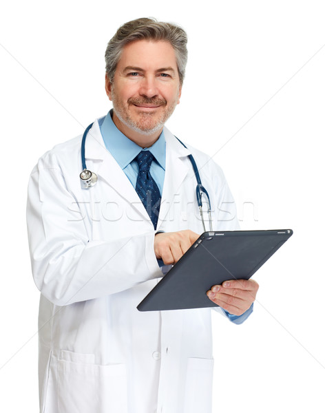 Doctor with tablet computer. Stock photo © Kurhan
