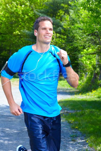 Jogging man. Stock photo © Kurhan