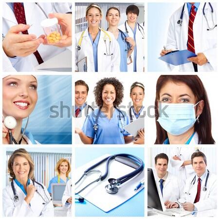 Сток-фото: медицинской · врачи · группа · коллаж · здравоохранения · женщину