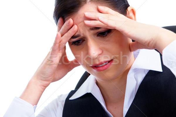Woman having  headache. Stress. Stock photo © Kurhan