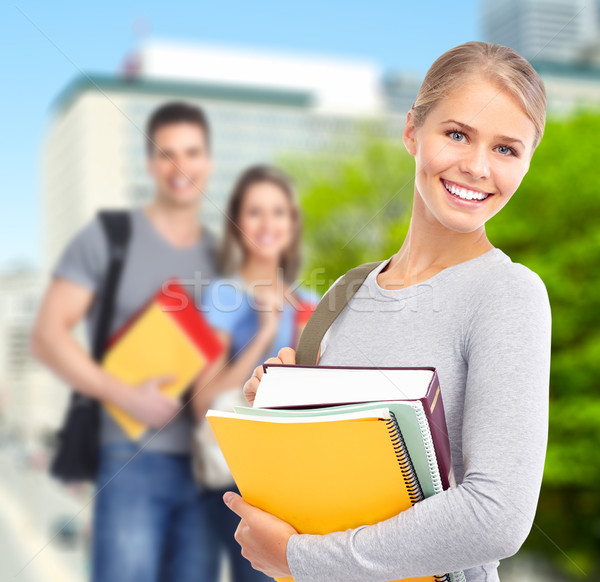 Young student woman. Stock photo © Kurhan
