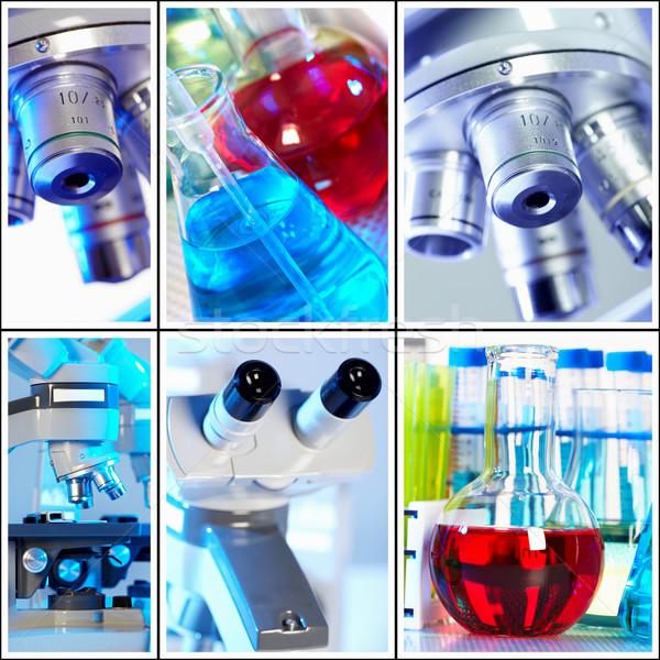Wetenschappelijk collage medische onderzoek werk gezondheid Stockfoto © Kurhan