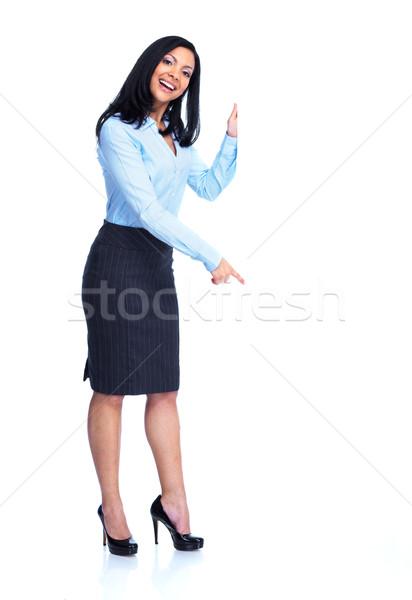 Beautiful business woman. Stock photo © Kurhan