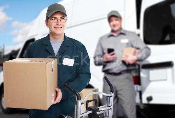 Levering koerier scheepvaart bewegende dienst business Stockfoto © Kurhan