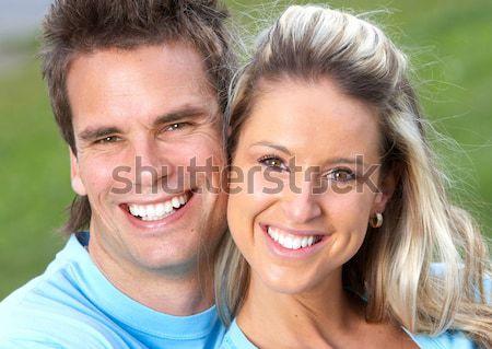 Couple amour jeunes souriant confortable appartement Photo stock © Kurhan