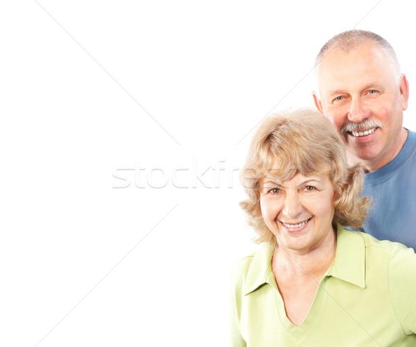 Stockfoto: Paar · liefde · geïsoleerd · witte · vrouw