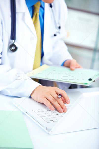 Foto d'archivio: Medico · medici · lavoro · laptop · ufficio · business
