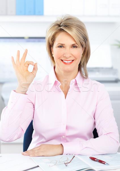Mulher de negócios bastante trabalhando escritório trabalhar quarto Foto stock © Kurhan