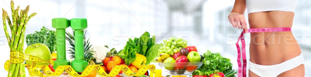 женщину живот овощей диеты Сток-фото © Kurhan