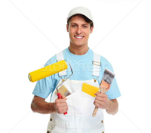 Painter man. Stock photo © Kurhan