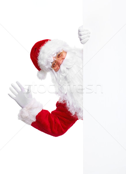 Santa Claus with poster. Stock photo © Kurhan