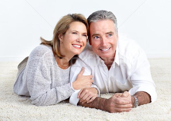 Сток-фото: счастливым · пожилого · пару · любви · изолированный