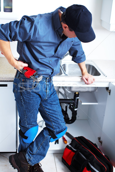 Stock photo: Professional plumber.