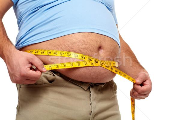 Homem gordo grande barriga Foto stock © Kurhan