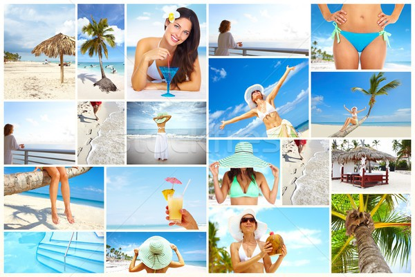 Exotic luxury resort collage. Stock photo © Kurhan