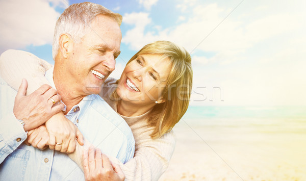 Old people over sea background Stock photo © Kurhan