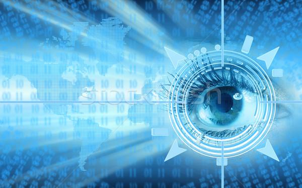 Occhi collage umani tecnologia futuristico computer Foto d'archivio © Kurhan