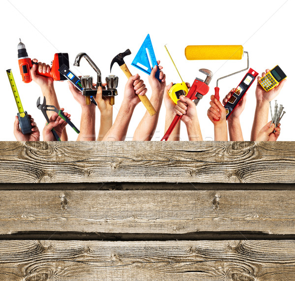 Photo stock: Mains · construction · outils · maison · main