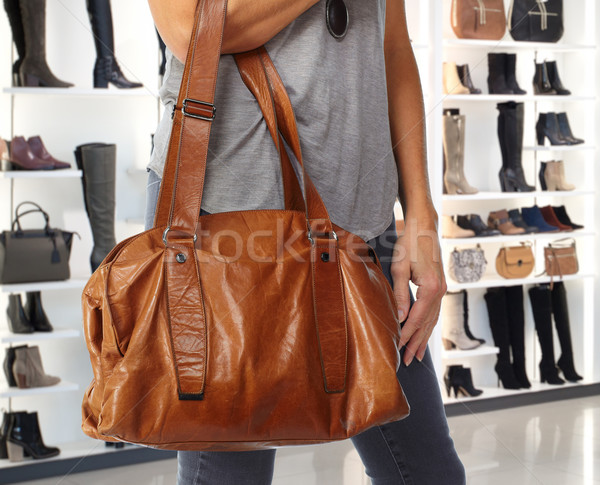 Shopping woman with a handbag. Stock photo © Kurhan