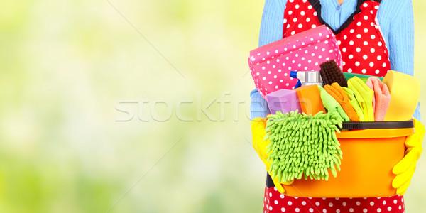 メイド 手 洗浄 ツール 家 サービス ストックフォト © Kurhan