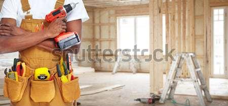 建設作業員 電気 見た 手 ツール ベルト ストックフォト © Kurhan