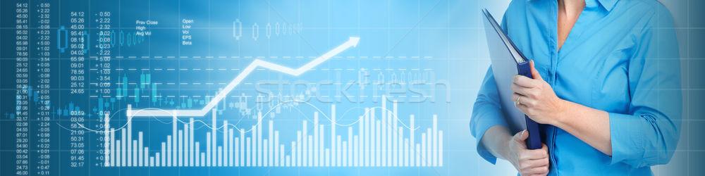 Affaires bourse financière résumé bleu Photo stock © Kurhan