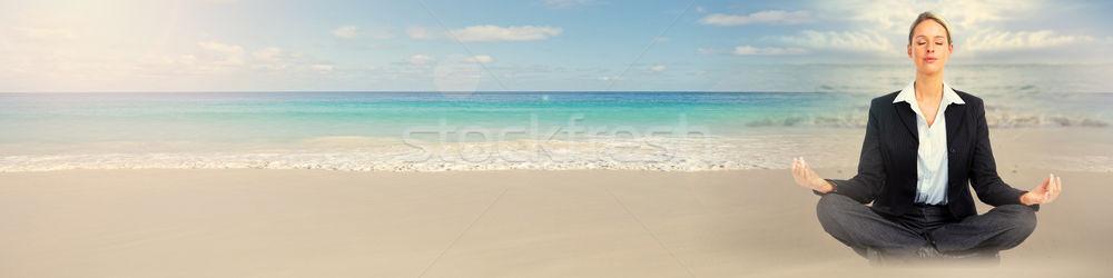 Meditation on beach Stock photo © Kurhan