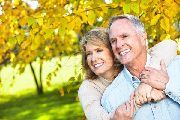 Stock photo: Happy elderly couple.