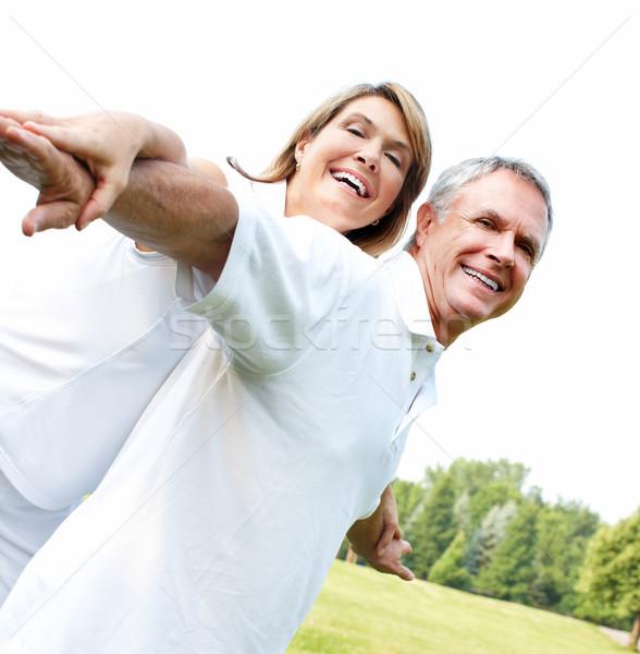 Stock photo: Happy elderly couple.