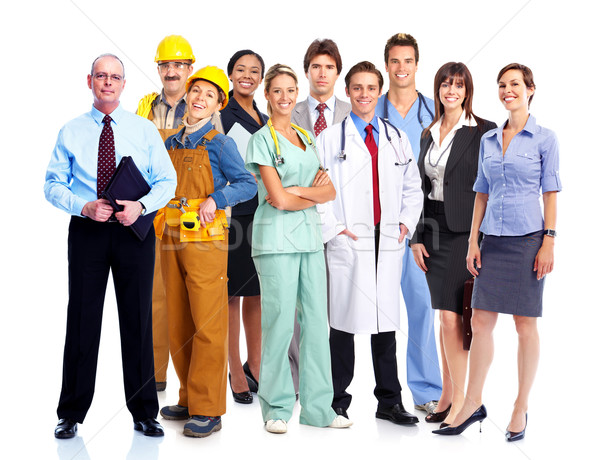 Group of industrial workers. Stock photo © Kurhan