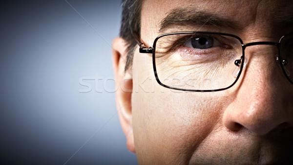 глаза очки офтальмолог лице человека счастливым Сток-фото © Kurhan